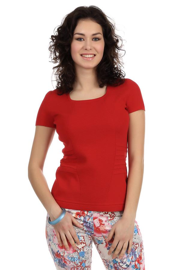 Пуловер PezzoПуловеры<br>Стильный женский пуловер красного цвета от бренда Pezzo. Пуловер сделан из вискозы с добавлением нейлона в технике мелкой вязки с объемными вязанными узорами. Изделие дополнено: u-образным вырезом и коротким рукавом длиной до середины плеча.<br><br>Размер RU: 50<br>Пол: Женский<br>Возраст: Взрослый<br>Материал: вискоза 65%, нейлон 35%<br>Цвет: Красный