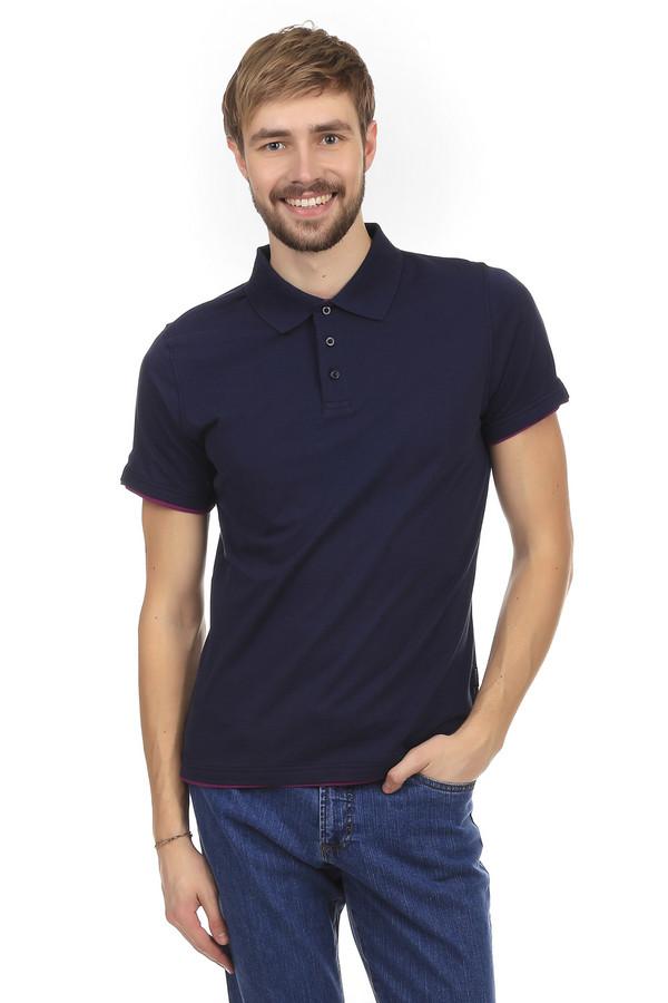 Поло PezzoПоло<br>Поло Pezzo темно-синего цвета, изготовленное из хлопка с незначительным добавлением спандекса. Основание рубашки и застежка украшены вставками из ткани фиолетового цвета. Поло застегивается на три пуговицы черного цвета. Такая одежда идеально подойдет для повседневного ношения в теплое время года.<br><br>Размер RU: 46<br>Пол: Мужской<br>Возраст: Взрослый<br>Материал: хлопок 95%, спандекс 5%<br>Цвет: Разноцветный