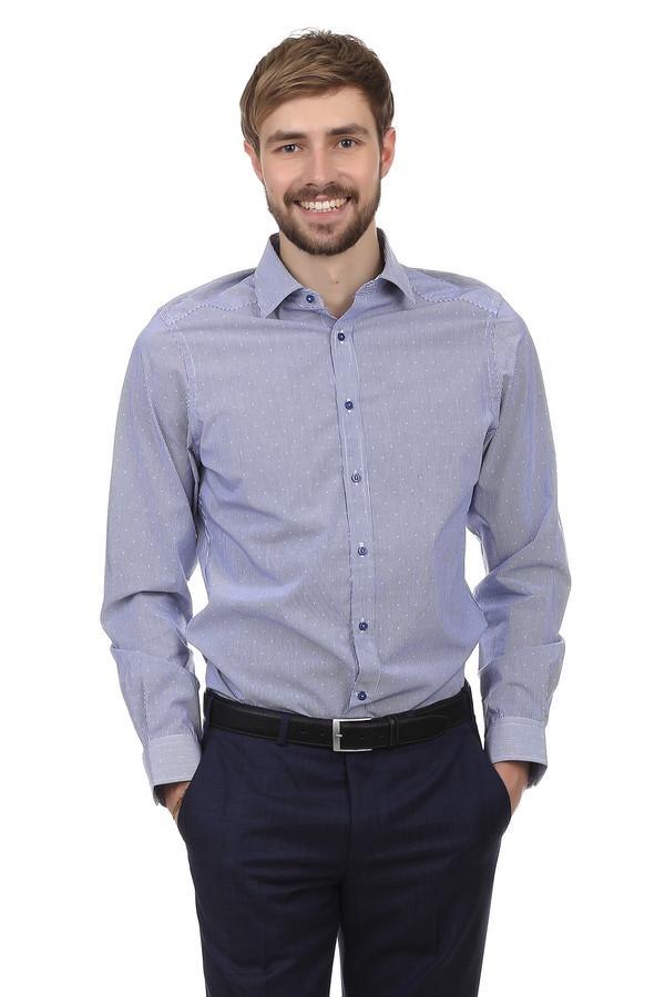 Рубашка с длинным рукавом Just ValeriДлинный рукав<br>Мужская рубашка от бренда Just Valeri. Данная рубашка пошита из абсолютно натуральной ткани, которая на 100% состоит из хлопка. Рубашка приталенного кроя. Изделие дополнено: отложным воротником, планкой на пуговицах и длинными рукавами. Рубашка выполнена из ткани в бело-голубую полоску и мелкий белый ромб. Идеально сочетается как с брюками, так и с джинсами.<br><br>Размер RU: 39<br>Пол: Мужской<br>Возраст: Взрослый<br>Материал: хлопок 100%<br>Цвет: Разноцветный