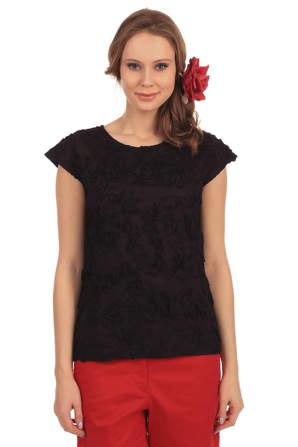 Футболка PezzoФутболки<br>Женская черная футболка от бренда Pezzo прямого кроя выполнена из дышащего натурального хлопкового материала. Изделие дополнено: круглым вором и короткими рукавами-кимоно. Футболка оформлена тканной цветочной аппликацией в цвет изделия. Хорошо будет смотреться как с  шортами , так и с  юбками .<br><br>Размер RU: 40<br>Пол: Женский<br>Возраст: Взрослый<br>Материал: хлопок 100%<br>Цвет: Чёрный