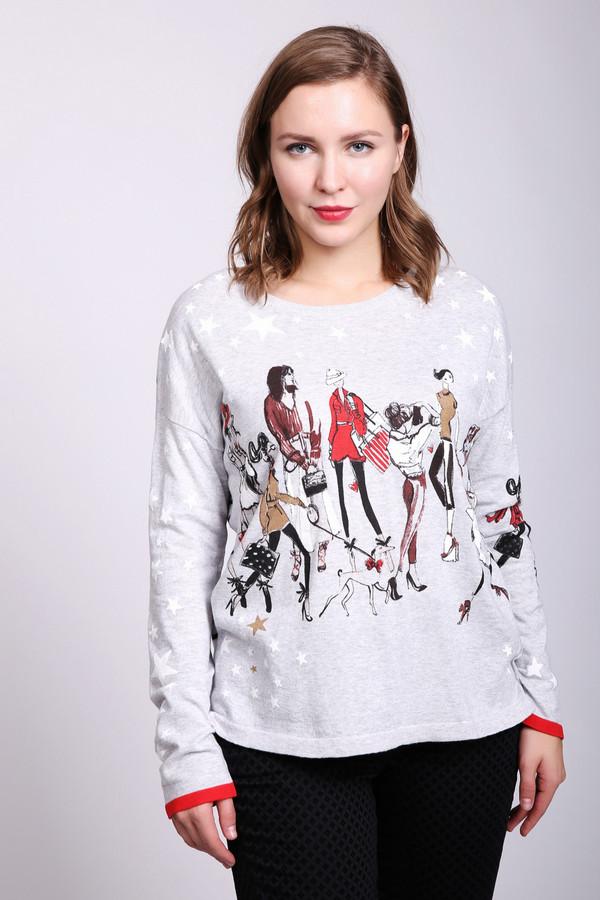 женский пуловер oui, серый