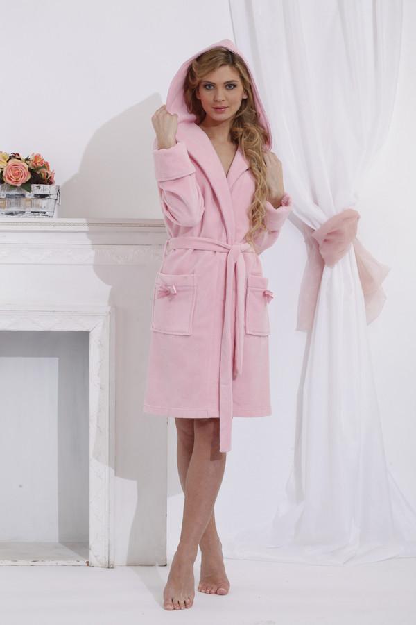 женский халат peche monnaie, розовый