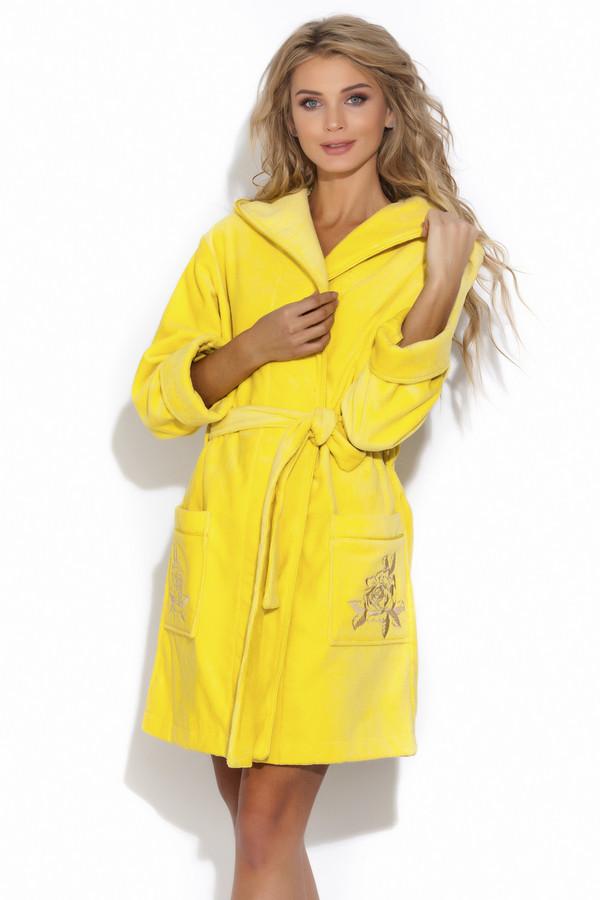 женский халат peche monnaie, желтый