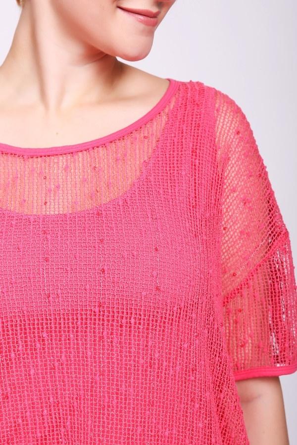 Фото 5 - Женский пуловер Via Appia розового цвета