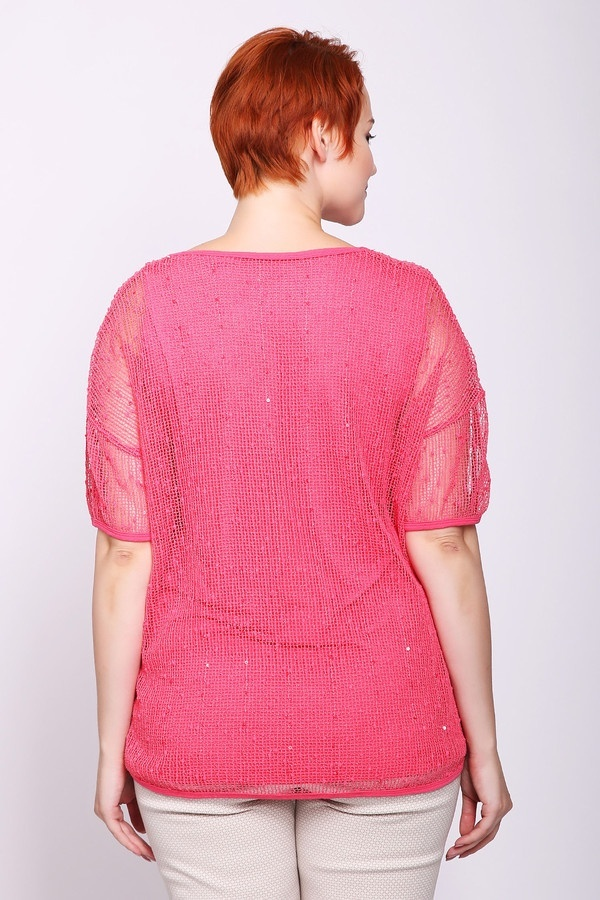 Фото 4 - Женский пуловер Via Appia розового цвета