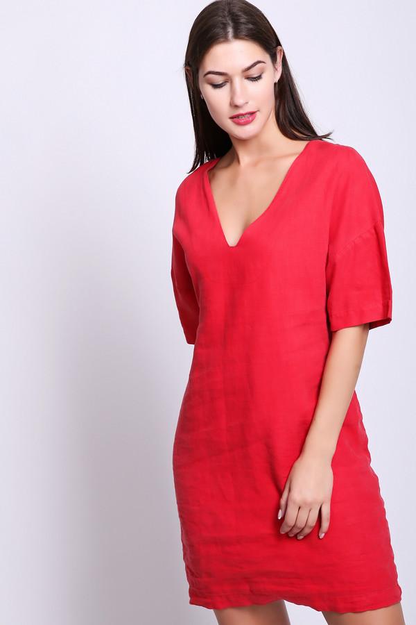 женское платье oui, красное