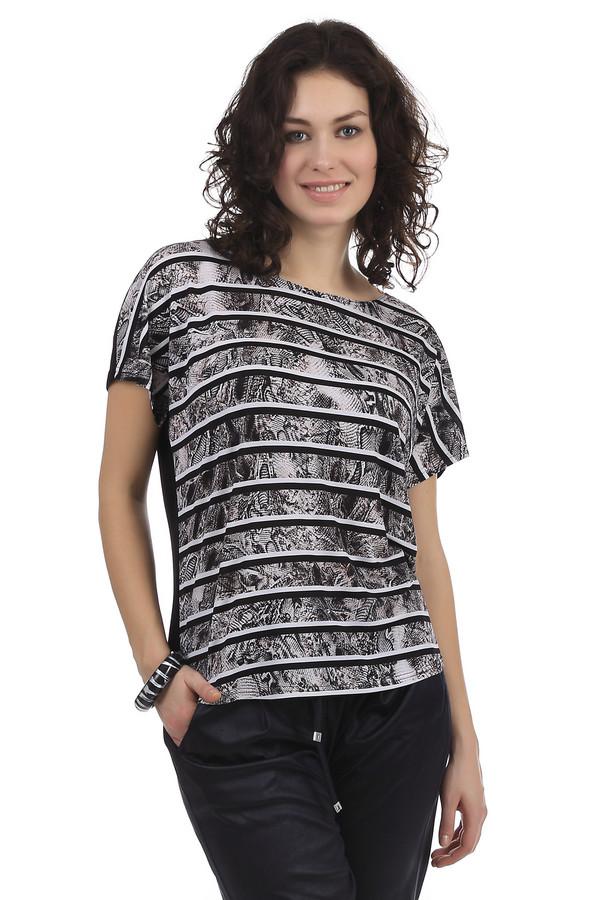 Блузa SteilmannБлузы<br>Женская блуза бренда Steilmann. Это стильная блуза со змеиным принтом в черную и белую полоску. Задняя часть блузы черного цвета. Покрой блузы слегка свободный. Она дополнена рукавом длиной до середины плеча и вырезом-лодочкой.<br><br>Размер RU: 44<br>Пол: Женский<br>Возраст: Взрослый<br>Материал: эластан 6%, полиэстер 94%<br>Цвет: Разноцветный