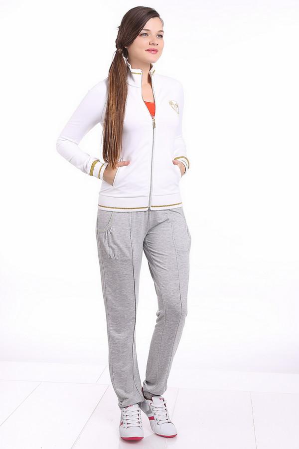 Спортивные брюки PezzoСпортивные брюки<br>Спортивные брюки для женщин, от бренда Pezzo. Брюки дополнены широкой резинкой с завязками на поясе, резинками снизу, а также двумя боковыми карманами. Брюки выполнены в сером цвете, а на карманах есть швы желтого цвета. Материал - вискоза с добавлением спандекса. В комплект к брюкам можно приобрести  лонгслив Pezzo .<br><br>Размер RU: 50<br>Пол: Женский<br>Возраст: Взрослый<br>Материал: вискоза 95%, спандекс 5%<br>Цвет: Серый