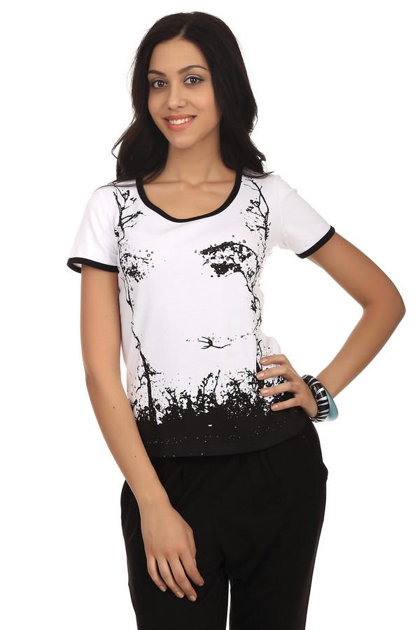 Футболка Just ValeriФутболки<br>Женская футболка Just Valeri прилегающего кроя выполнена в черно-белой гамме. Изделие дополнено: округлым воротом и длинными рукавами. Футболка выполнена из абсолютно натурального хлопкового материала. Удобна и практична в носке. В летний период хорошо будет смотреться с  шортами .<br><br>Размер RU: 40<br>Пол: Женский<br>Возраст: Взрослый<br>Материал: хлопок 95%, спандекс 5%<br>Цвет: Белый