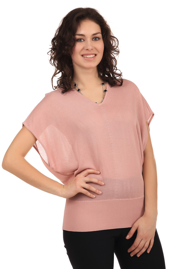 Пуловер PezzoПуловеры<br>Женственный пуловер бренда Pezzo. Это полупрозрачный пуловер свободного кроя, с коротким рукавом и v-образным вырезом. Данная модель выполнена в бледно-розовом цвете. Изделие изготовлено из материала, который на 70% состоит из вискозы и на 30% из хлопка.<br><br>Размер RU: 50<br>Пол: Женский<br>Возраст: Взрослый<br>Материал: вискоза 70%, хлопок 30%<br>Цвет: Розовый