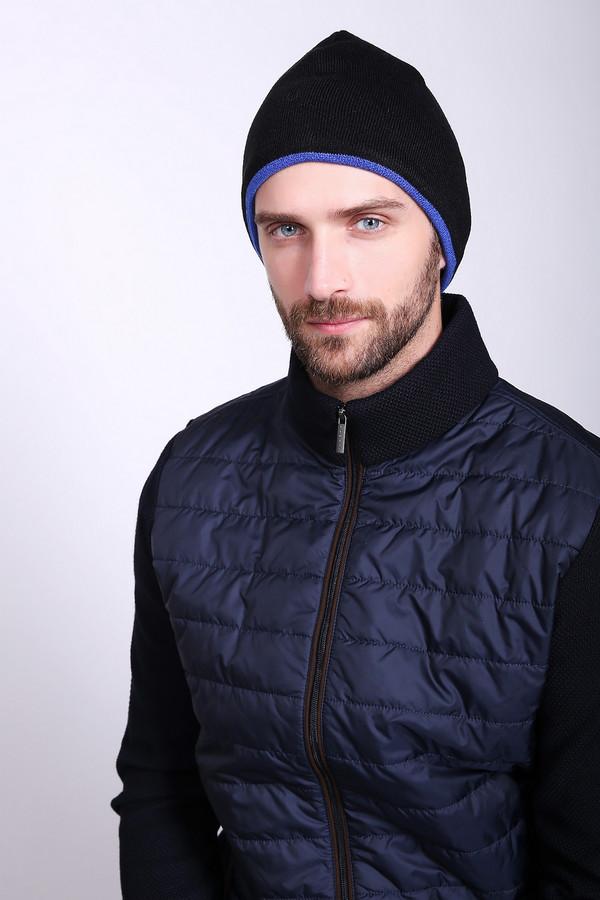 Шапка PezzoШапки<br>Шапка мужская черного цвета фирмы Pezzo. Модель выполнена из 100% акрила. Окружность шапки дополняет синяя полоса. Комфортная посадка на голове. Хорошее дополнение к верхней одежды.