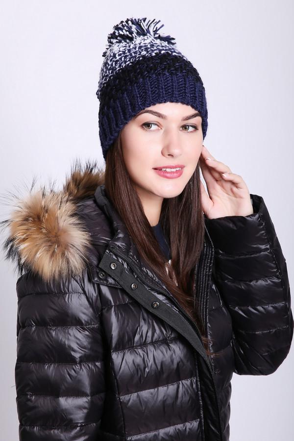 женская шапка wegener, синяя