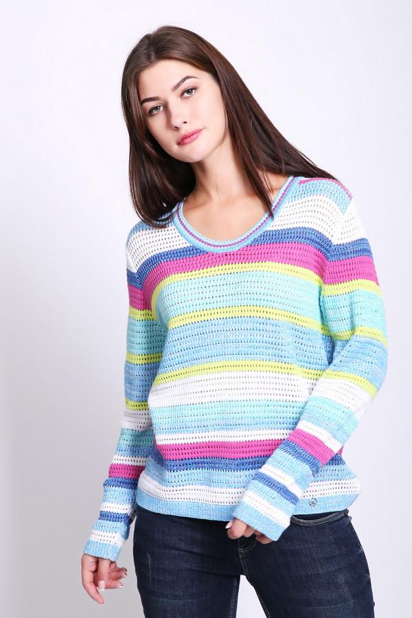 Купить Пуловер Lucia, Румыния, Разноцветный, хлопок 46%, полиэстер 1%, полиакрил 45%, вискоза 3%, полиамид 5%