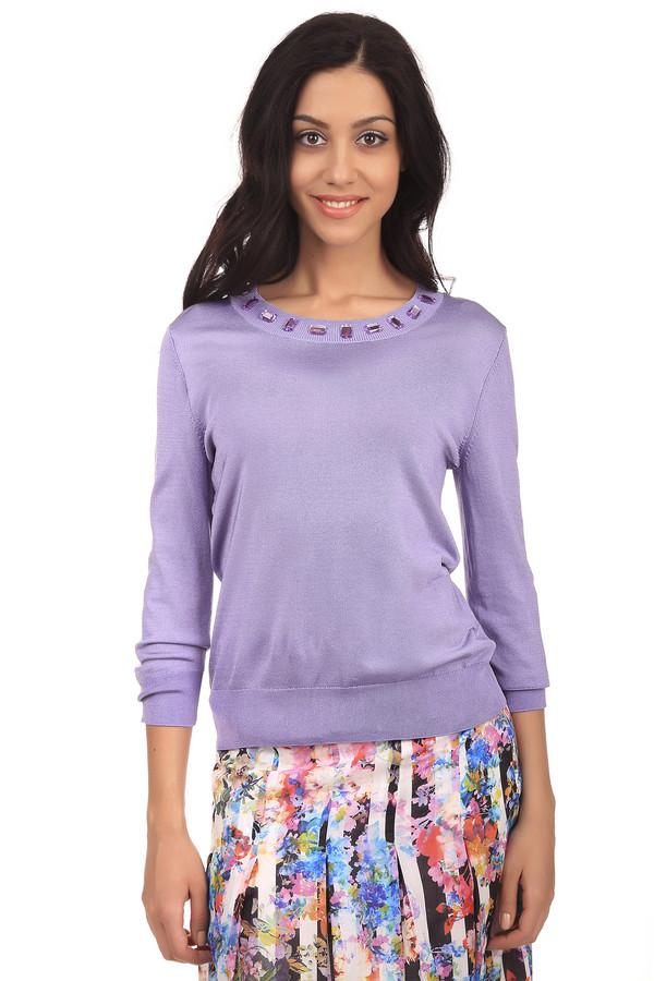 Пуловер PezzoПуловеры<br>Стильный женский пуловер  сиреневого  цвета. Это пуловер от бренда Pezzo, связанный в технике мелкой вязки. Изделие дополнено: круглым вырезом на резинке, рукавом три четверти на резинке, низом на резинке, а также камнями  светло-фиолетового  цвета по контуру выреза.<br><br>Размер RU: 54<br>Пол: Женский<br>Возраст: Взрослый<br>Материал: вискоза 75%, полиамид 22%, спандекс 3%<br>Цвет: Сиреневый