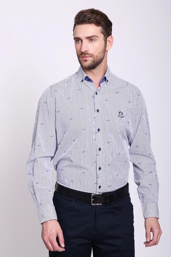 Купить Рубашка с длинным рукавом Claudio Campione, Турция, Синий, хлопок 100%