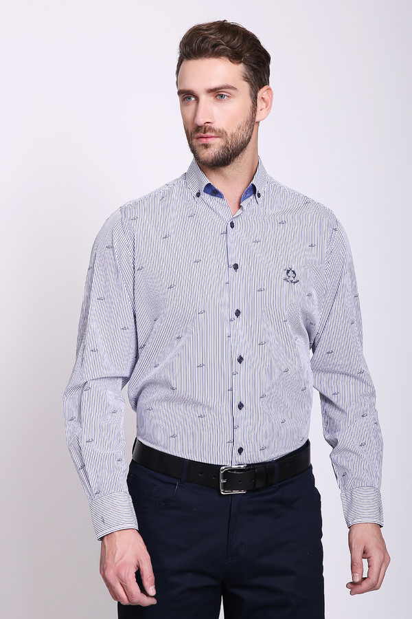 мужская рубашка claudio campione, синяя