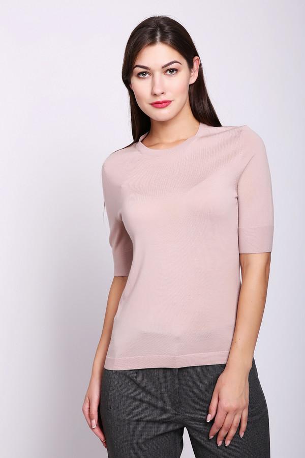 Пуловер Luisa CeranoПуловеры<br>Пуловер женский розового цвета фирмы Luisa Cerano. Модель выполнена прямым покроем. Изделие дополнено округлым воротом, втачными, короткими рукавами. Окружность ворота обшита бейкой. Ткань состоит из 100% шерсти. Гармонировать можно с различными деталями вашего гардероба.