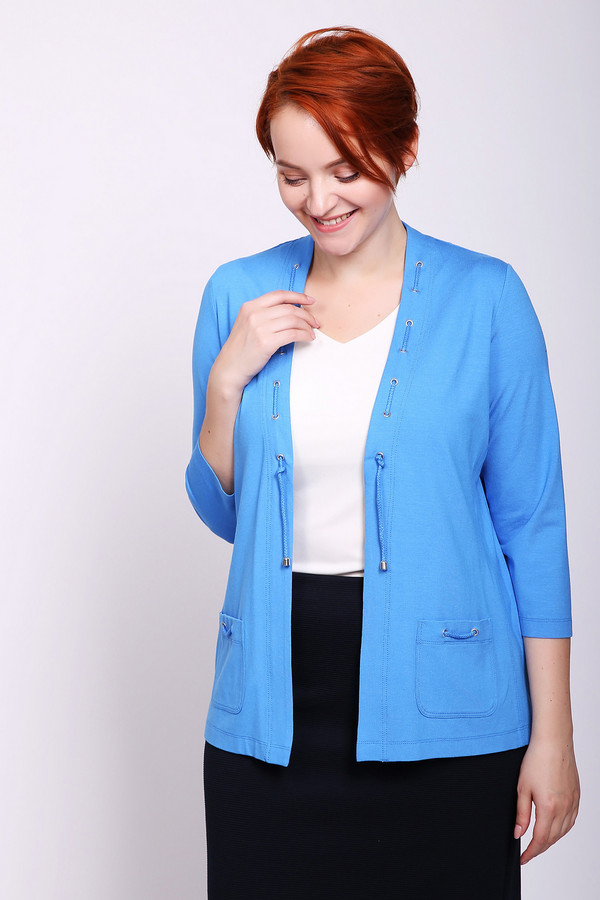 женский жакет rabe collection, голубой