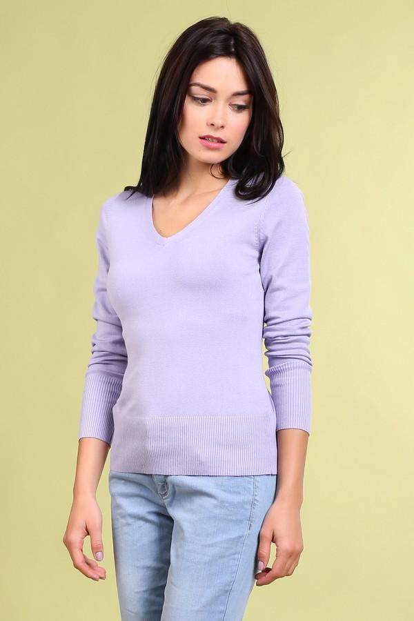 Пуловер PezzoПуловеры<br>Модный женский пуловер от бренда Pezzo. Это пуловер сиреневого цвета, сделанный материала, в состав которого входит смесь хлопка, вискозы, полиамида и спандекса. Изделие дополнено: v-образным вырезом, длинным рукавом на широкой резинке с небольшими пуговицами под цвет пуловера, а также низом на резинке.<br><br>Размер RU: 46<br>Пол: Женский<br>Возраст: Взрослый<br>Материал: полиамид 17%, хлопок 48%, вискоза 32%, спандекс 3%<br>Цвет: Сиреневый