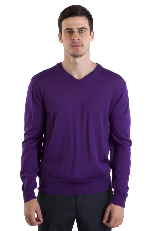 Джемпер Flavio NavaДжемперы<br>Приятный на ощупь и мягкий джемпер от бренда Flavio Nava выполнен из шерсти фиолетового цвета. Изделие дополнено: v-образным вырезом и длинными рукавами. Ворот, манжеты и нижний кант оформлены трикотажной вязанной резинкой.<br><br>Размер RU: 46<br>Пол: Мужской<br>Возраст: Взрослый<br>Материал: шерсть 100%<br>Цвет: Фиолетовый