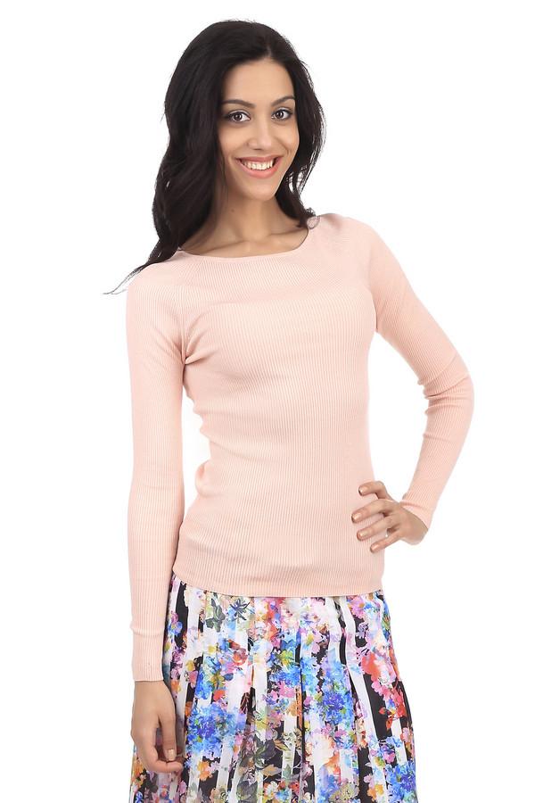 Пуловер PezzoПуловеры<br>Женский фирменный свитер Pezzo бежевого цвета, с розовым оттенком. Материал, из которого пошит данный свитер, состоит из шелка с добавлением полиамида и небольшим процентом эластана. У этой модели круглый вырез и длинный рукав. Он сидит плотно по фигуре и подчеркивает все ее достоинства.<br><br>Размер RU: 50<br>Пол: Женский<br>Возраст: Взрослый<br>Материал: эластан 5%, полиамид 32%, шелк 63%<br>Цвет: Розовый