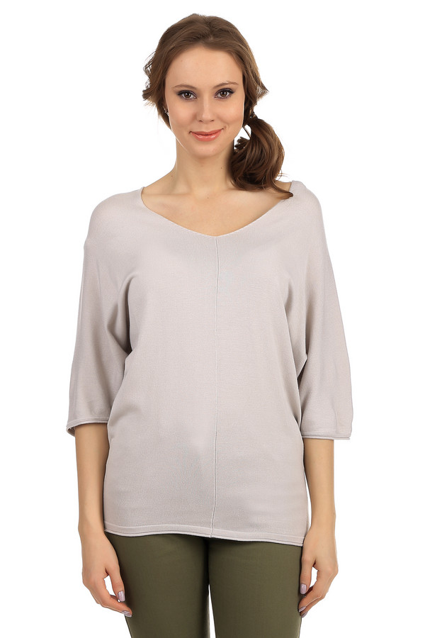 Пуловер PezzoПуловеры<br>Стильный женский пуловер свободного покроя от бренда Pezzo. Данный пуловер представлен в бежевом цвете. Изделие дополнено глубоким v-образным вырезом и рукавом длиной до середины локтя. В состав материала входит вискоза и небольшой процент полиамида.<br><br>Размер RU: 48<br>Пол: Женский<br>Возраст: Взрослый<br>Материал: полиамид 19%, вискоза 81%<br>Цвет: Бежевый