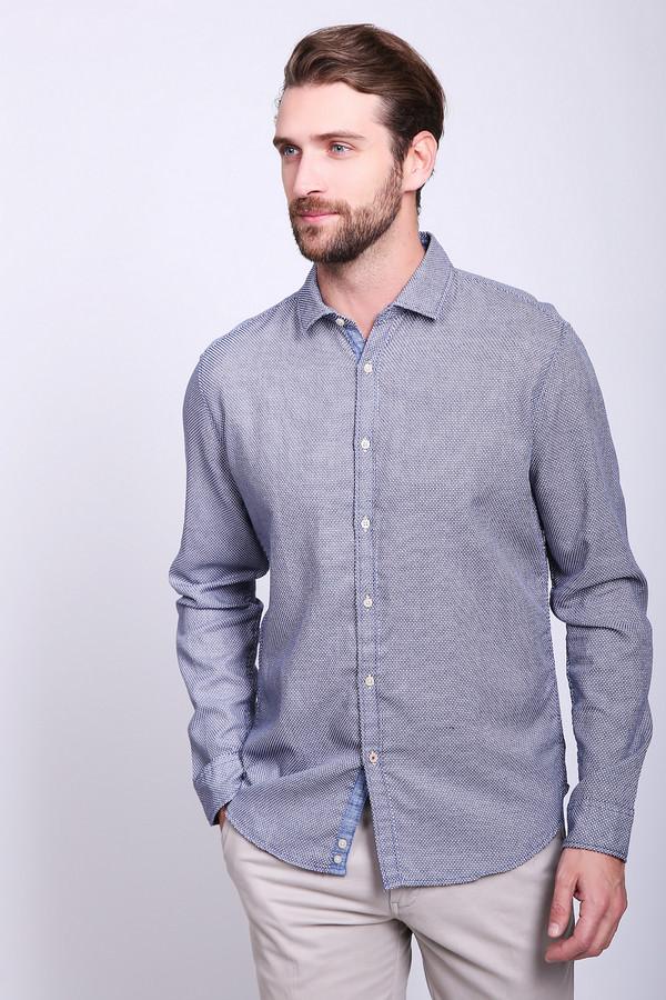 Купить Рубашка с длинным рукавом Cinque, Индия, Синий, хлопок 100%