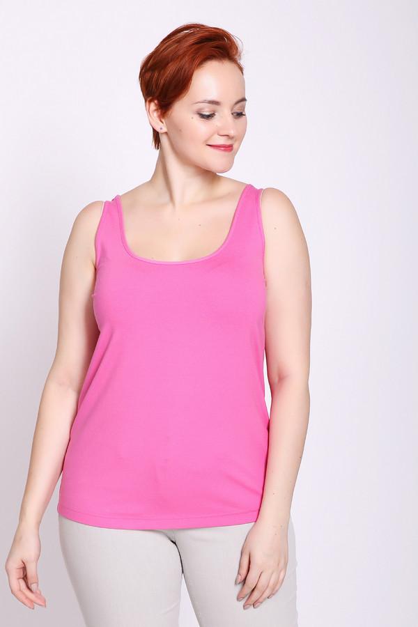 Топ Eugen KleinТопы<br>Топ женский розового цвета фирмы Eugen Klein. Модель выполнена прямым фасоном. Изделие дополнено округлым воротом, без рукавов с широкими лямками. Ткань состоит из 7% эластана, 93% вискозы. Сочетать можно с различными брюками.