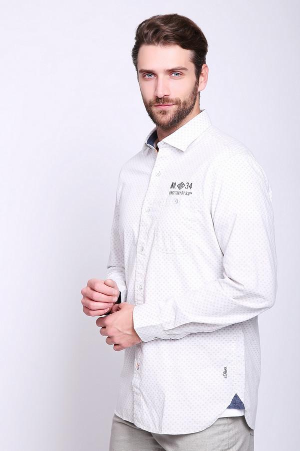 Купить Рубашка с длинным рукавом s.Oliver, Индия, Белый, хлопок 100%