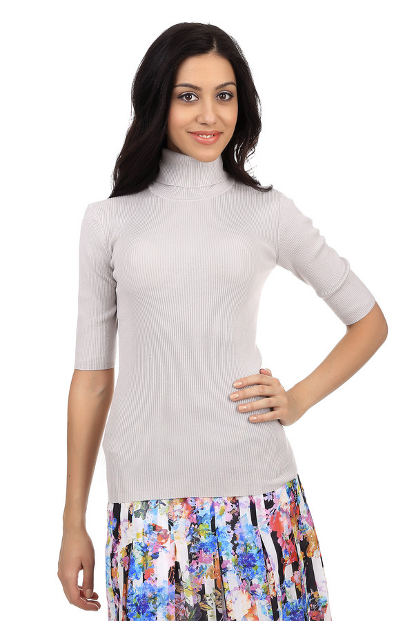 Пуловер PezzoПуловеры<br>Классический женский пуловер бренда Pezzo. Это трикотажный пуловер серого цвета, пошитый из шелка с добавлением полиамида и эластана. Изделие дополнено: рукавом длиной до локтя, а также высоким горлом.<br><br>Размер RU: 50<br>Пол: Женский<br>Возраст: Взрослый<br>Материал: эластан 5%, полиамид 32%, шелк 63%<br>Цвет: Серый
