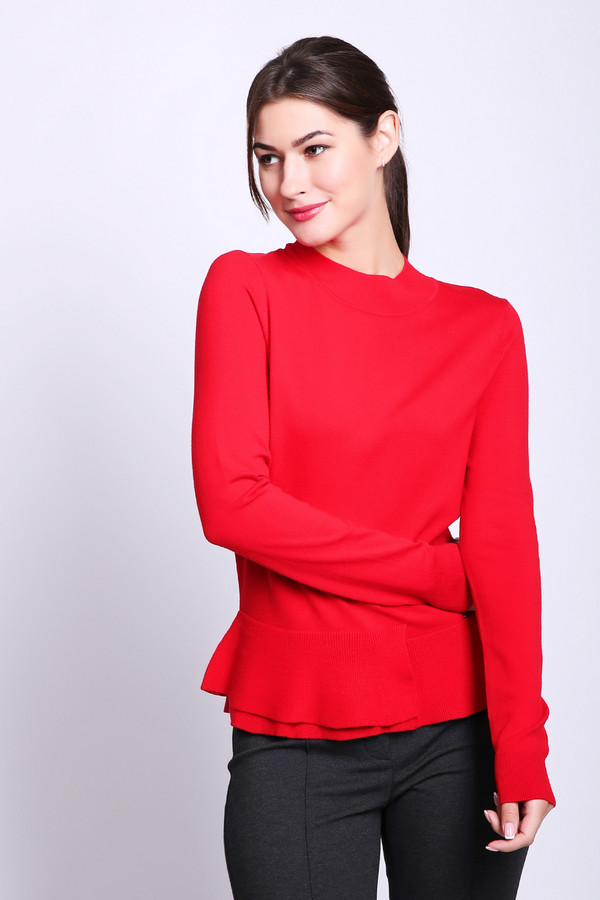 женский пуловер taifun, красный