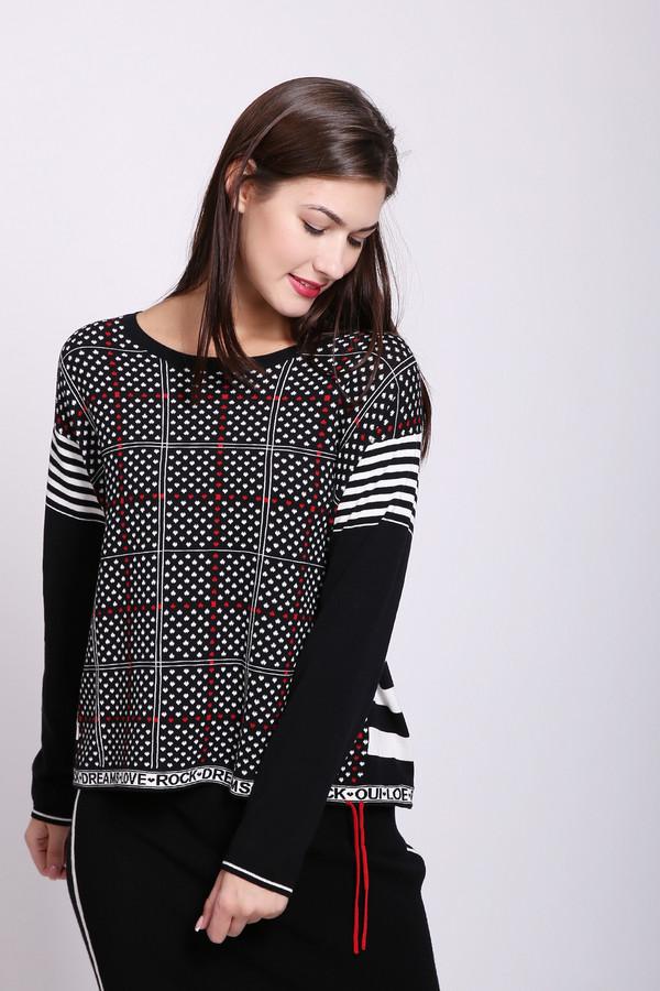 женский пуловер oui, черный