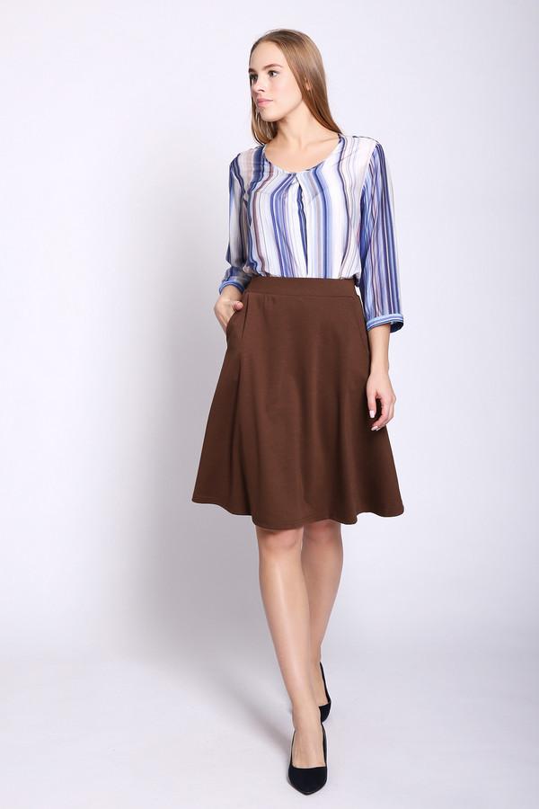 женская юбка pezzo, коричневая
