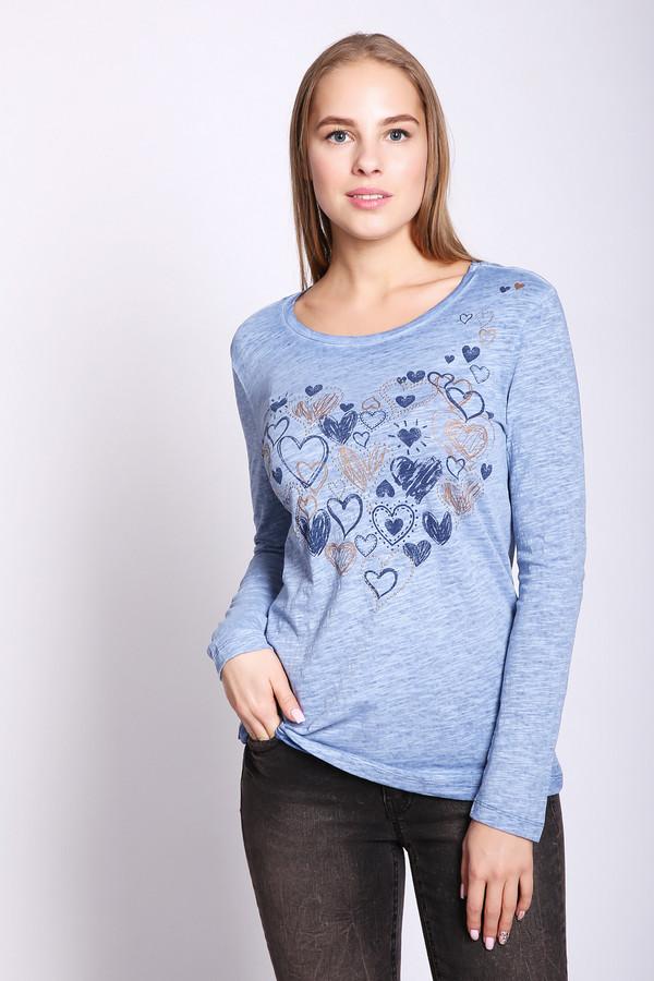 женская футболка taifun, голубая