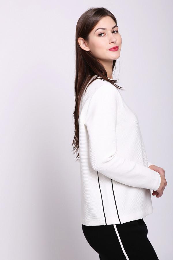 Пуловер Gerry WeberПуловеры<br>Пуловер женский белого цвета фирмы Gerry Weber. Модель выполнена прямым фасоном. Изделие дополнено округлым воротом, втачными, длинными рукавами, задней застежкой молния. По бокам полувера сделаны вставки выделенные черной тесьмой. Состав ткани состоит из 4% эластана, 21% полиэстера, 75% хлопка. Пуловер сможет гармонировать с различными юбками, брюками.