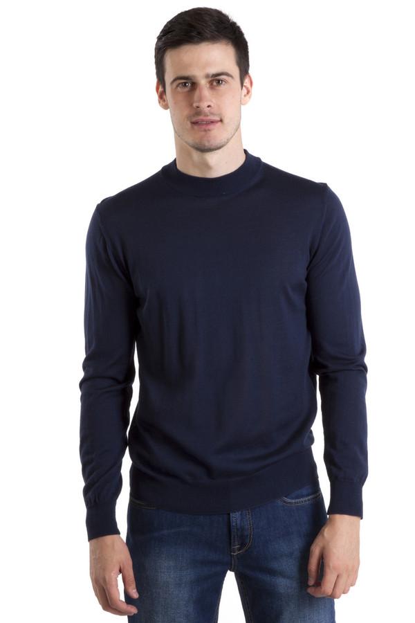 Джемпер Flavio NavaДжемперы<br>Мужской джемпер от бренда Flavio Nava выполнен из натуральной шерсти темно-синего цвета. Изделие дополнено: круглым вырезом под горло и длинными рукавами. Ворот, манжеты и нижний кант оформлены трикотажной эластичной резинкой.<br><br>Размер RU: 50<br>Пол: Мужской<br>Возраст: Взрослый<br>Материал: шерсть 100%<br>Цвет: Синий