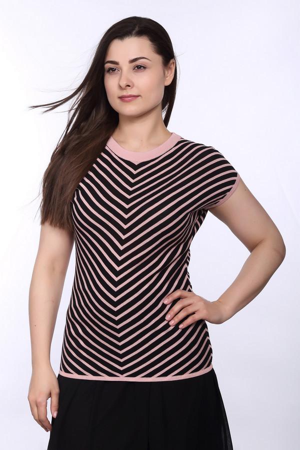 Пуловер PezzoПуловеры<br>Модный женский пуловер из вискозы, с добавлением хлопка. Это пуловер от бренда Pezzo. Данное изделие связано по технике мелкой вязки и слегка свободному покрою. Изделие дополнено: коротким свободным рукавом и круглым вырезом. Данная модель представлена в черном цвете, с добавлением розового.<br><br>Размер RU: 48<br>Пол: Женский<br>Возраст: Взрослый<br>Материал: вискоза 70%, хлопок 30%<br>Цвет: Разноцветный