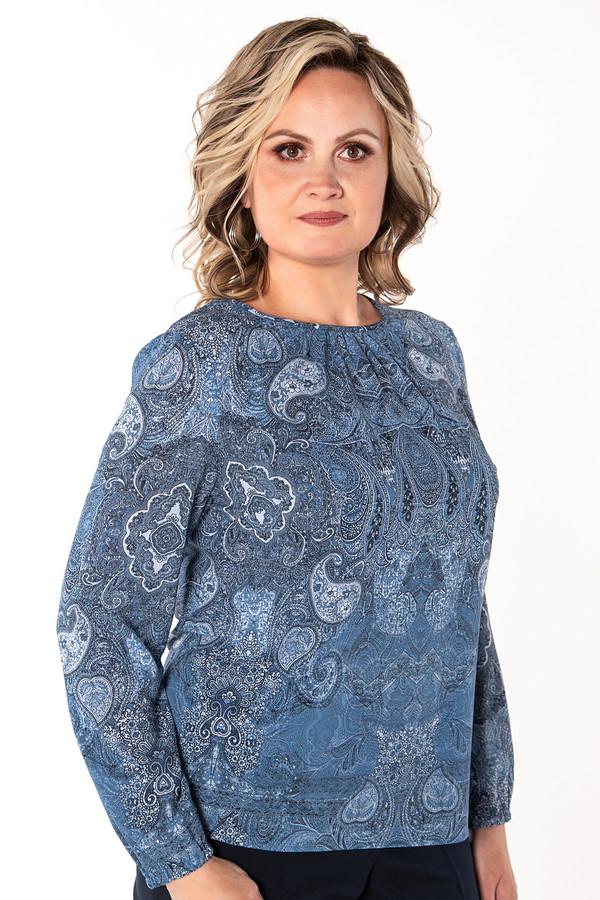 Купить Блузa Virgi style, Россия, Синий, эластан 5%, вискоза 50%, полиэстер 45%