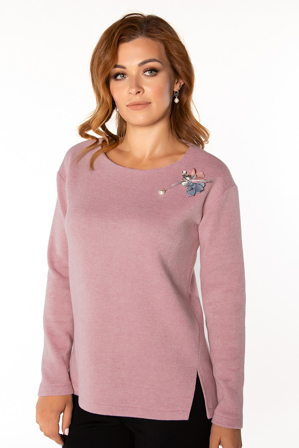 Купить Блузa Virgi style, Россия, Розовый, шерсть 30%, полиэстер 70%