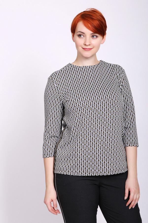 Пуловер TaifunПуловеры<br>Пуловер женский серого цвета фирмы Taifun. Модель выполнена прямым покроем. Изделие дополнено круглым воротом, задняя застежка молния, втачными рукавами 3\4 длинны. По боковым швам пришита тесьма коричневого цвета. Ткань имеет принт. Состав ткани состоит из 3% эластана, 32% вискозы, 65% полиэстера. Гармонировать можно с различными брюками.