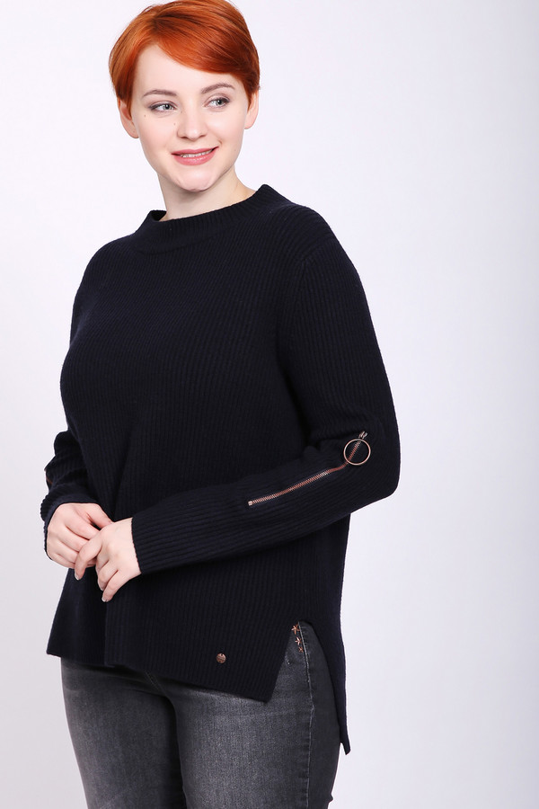 женский пуловер taifun, черный