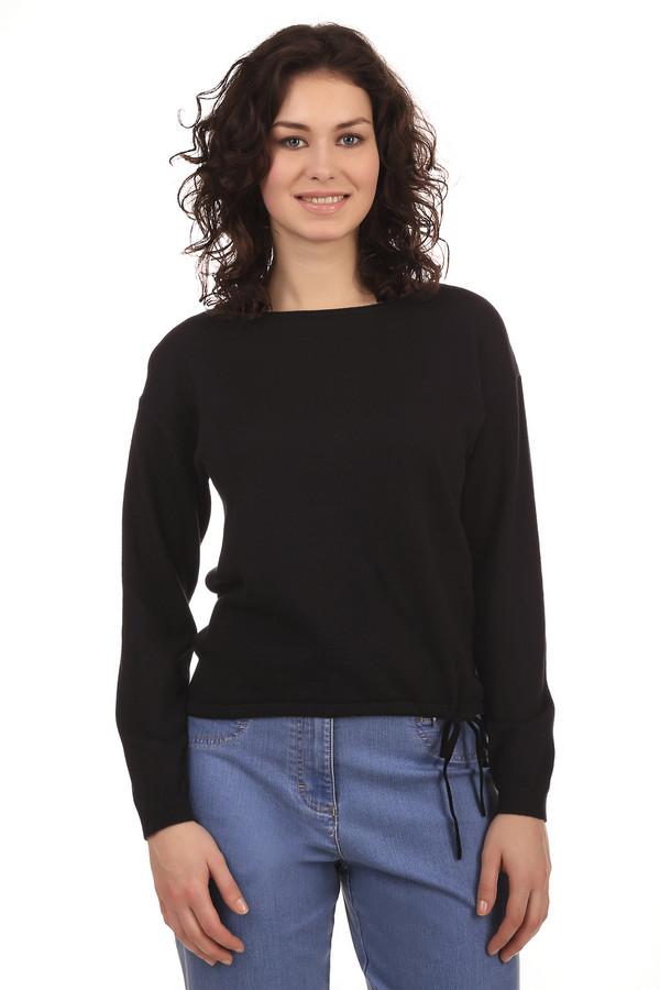 Пуловер PezzoПуловеры<br>Пуловер Pezzo черного цвета, изготовлен из смеси хлопка и акрила. Изюминкой пуловера являются затяжки, расположенные в нижней части одежды. Шнурок можно завязать для придания новизны образу. Кроме того, благодаря затяжкам вы можете регулировать низ пуловера. Подходит для ежедневного использования в прохладную погоду.<br><br>Размер RU: 54<br>Пол: Женский<br>Возраст: Взрослый<br>Материал: хлопок 60%, акрил 40%<br>Цвет: Чёрный
