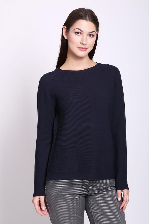 Пуловер Gerry WeberПуловеры<br>Пуловер женский синего цвета фирмы Gerry Weber. Модель выполнена прямым покроем. Изделие дополнено округлым воротом, длинными рукавами реглан, боковыми разрезами. Состав ткани: 100% хлопок. Гармонировать можно с различными брюками.