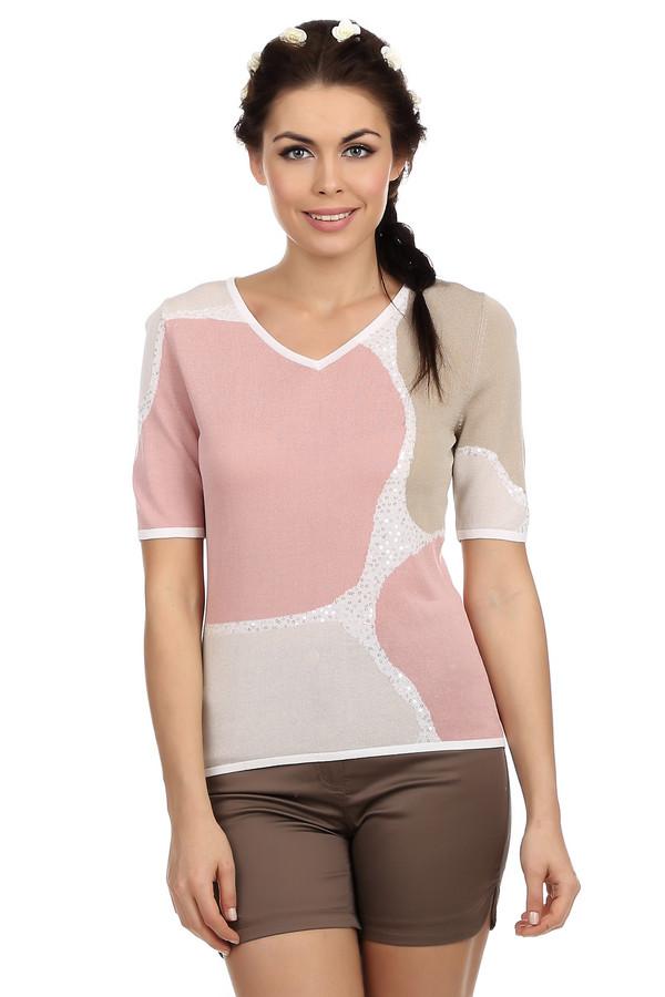 Пуловер PezzoПуловеры<br>Стильный женский пуловер бренда Pezzo в пастельных бежево-розовых тонах, расшитый прозрачными пайетками. У данного пуловера широкий v-образный вырез и рукав длиной до середины плеча. Это тонкий пуловер мелкой вязки из вискозы с дополнением хлопка. Благодаря тонкому, мягкому материалу, этот пуловер очень удобный и приятный к телу.<br><br>Размер RU: 44<br>Пол: Женский<br>Возраст: Взрослый<br>Материал: вискоза 70%, хлопок 30%<br>Цвет: Разноцветный