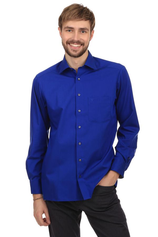 Рубашка с длинным рукавом MarvelisДлинный рукав<br>modern fit non-iron<br><br>Размер RU: 43<br>Пол: Мужской<br>Возраст: Взрослый<br>Материал: хлопок 100%<br>Цвет: Синий