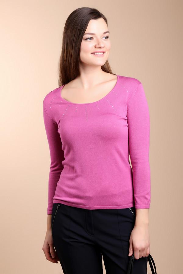 Пуловер PezzoПуловеры<br>Женский пуловер от бренда Pezzo. Это пуловер классического покроя, с круглым глубоким вырезом и рукавом три четверти. Данное изделие представлено в ярко-розовом цвете и дополнено серебристыми стразами на груди. Этот пуловер пошит из вискозы с добавлением полиамида.<br><br>Размер RU: 54<br>Пол: Женский<br>Возраст: Взрослый<br>Материал: полиамид 19%, вискоза 81%<br>Цвет: Розовый