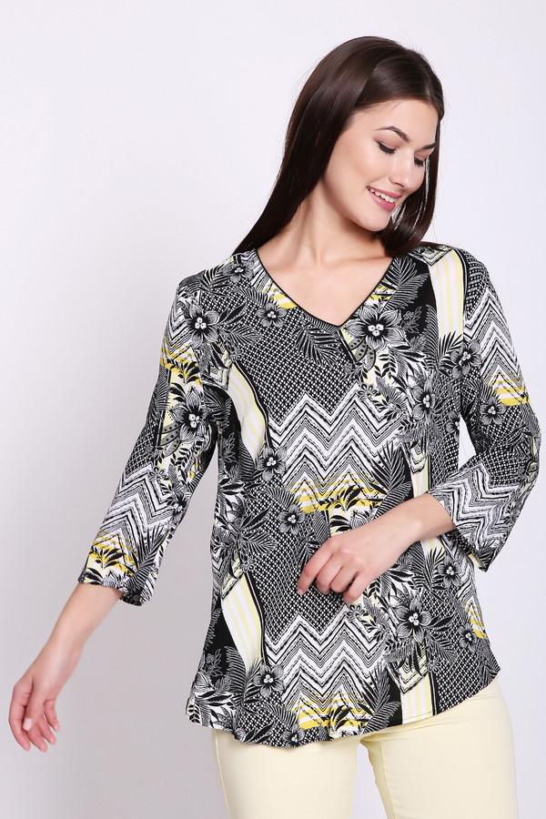 Блузa Betty BarclayБлузы<br>Блуза женская серого цвета фирмы Betty Barclay. Модель выполнена прямым покроем. Изделие дополнено V - образным разрезом, втачными рукавами 3/4 длинны. Ткань имеет разноцветный принт. Состав ткани состоит из 100% вискозы. Гармонировать можно с различными брюками.