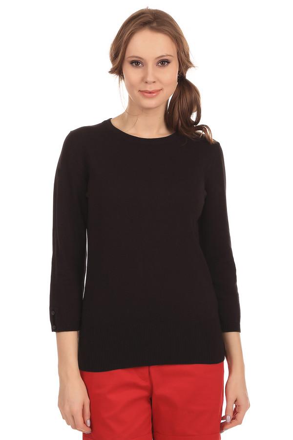 Пуловер PezzoПуловеры<br>Пуловер Pezzo черного цвета, подходит для использование в любое время года. Изготовлен из смеси хлопка и вискозы с незначительным добавлением других материалов. Рукава пуловера украшены пуговицами. Благодаря сдержанному дизайну может стать частью вашего официально-делового стиля.<br><br>Размер RU: 46<br>Пол: Женский<br>Возраст: Взрослый<br>Материал: полиамид 17%, хлопок 48%, вискоза 32%, спандекс 3%<br>Цвет: Чёрный