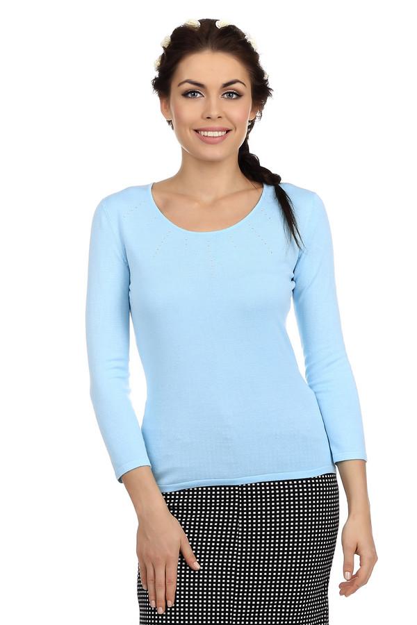 Пуловер PezzoПуловеры<br>Классический женский пуловер голубого цвета. Это пуловер от бренда Pezzo. Изделие дополнено: круглым глубоким вырезом, рукавом три четверти, а также серебристыми стразами на груди. Этот пуловер пошит из вискозы с добавлением полиамида.<br><br>Размер RU: 50<br>Пол: Женский<br>Возраст: Взрослый<br>Материал: полиамид 19%, вискоза 81%<br>Цвет: Голубой