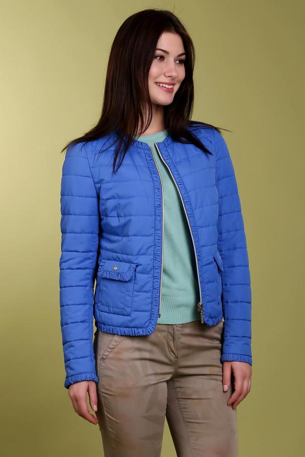 Куртка PezzoКуртки<br>Женская куртка ярко-синего цвета, от бренда Pezzo. Это короткая куртка, дополненная боковыми передними карманами, молниями на рукавах, а также рюшами по краям куртки и на карманах. Куртка застегивается на молнию, а изготовлена из 100% полиэстера.<br><br>Размер RU: 48<br>Пол: Женский<br>Возраст: Взрослый<br>Материал: полиэстер 100%<br>Цвет: Синий